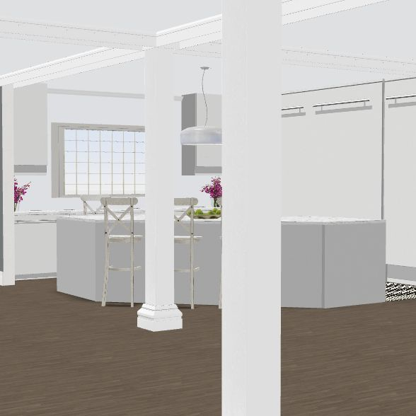 no kitch wall 2/stairs 6 addt w/existing bkgd Interior Design Render