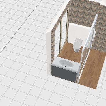 small washroom Interior Design Render