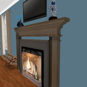 Chinoiserie Living Room  Interior Design Render