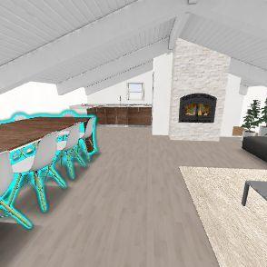 Piano Primo versione panca Interior Design Render