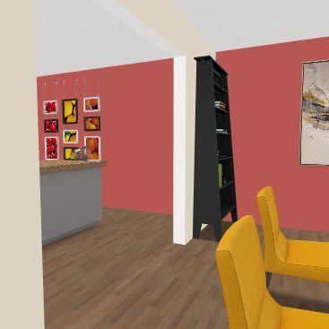 departamento para dos Interior Design Render