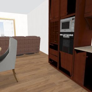 offset dining room Interior Design Render