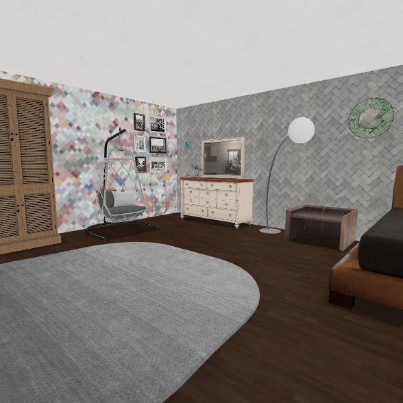 Brynlee White Bedroom Design Interior Design Render