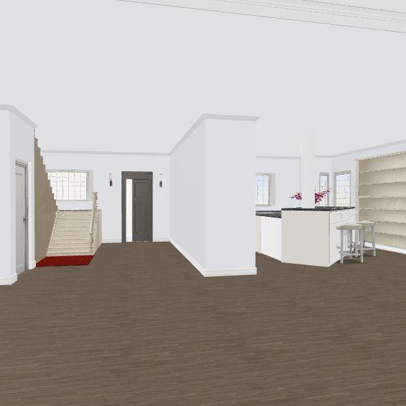 12 stairs moniques' kitchen addt w/existing bkgd Interior Design Render