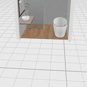 łazienka walk in prosty 90 Interior Design Render