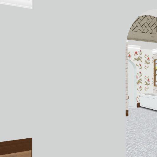 straight stairs no shower Interior Design Render