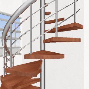 3 storey building 1st floor Interior Design Render