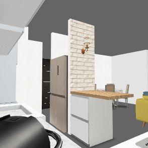 new הזזת קיר 40 סמ מודל אביב+מקרר TV אחרי  פתח 24_12_19 Interior Design Render