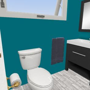 kids bathroom Interior Design Render