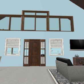 2 big windows  Interior Design Render