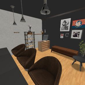 Clipper Barbershop Interior Design Render