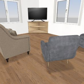 32 x 32 Grandma Cottage 2-28-2020 BUNKbed Interior Design Render