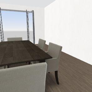 dining rooom Interior Design Render