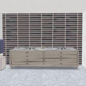 baño andy y mama Interior Design Render