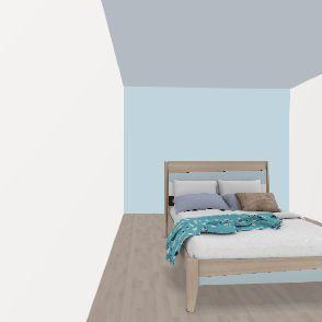 Cool Asian Bedroom Interior Design Render