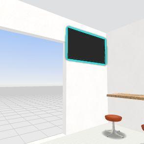 pastelaria Interior Design Render