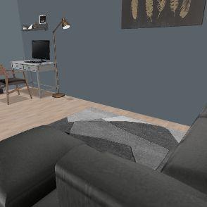Home1_narożnik Interior Design Render