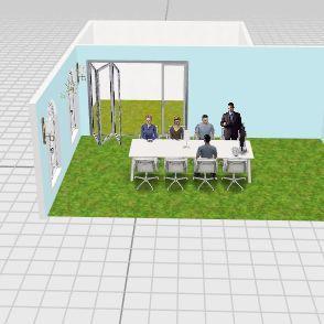 사무 Interior Design Render