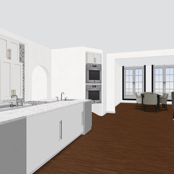 Kitchen Island 2/28 Interior Design Render