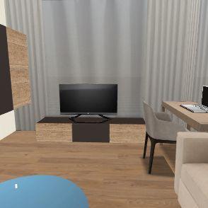 Стены_13_лазурит Interior Design Render