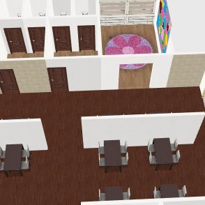 restaurant plan Interior Design Render