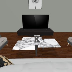 K living room  Interior Design Render
