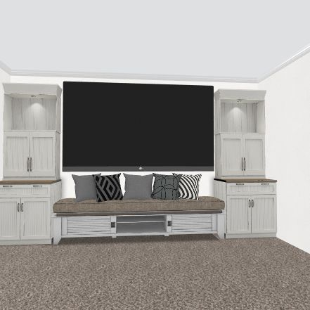 Media Room Interior Design Render