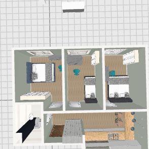 3 pok dla 5 osób Interior Design Render