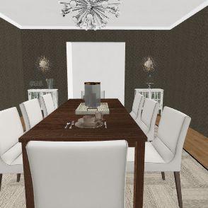Elegant Dining Room Interior Design Render