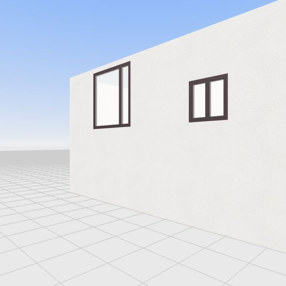 HOUSE SHELL editable Interior Design Render