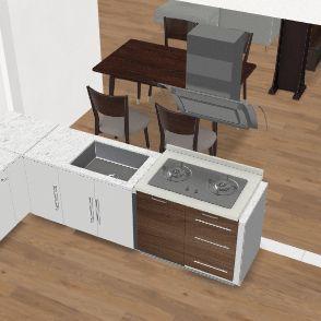 casa cucina terrazzo e open space enorme Interior Design Render