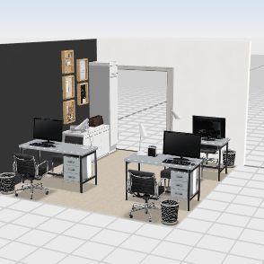 escritorio 2opçao Interior Design Render