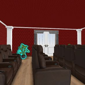 Home Theater Interior Design Render
