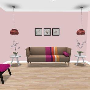 sala estar e jantar Interior Design Render