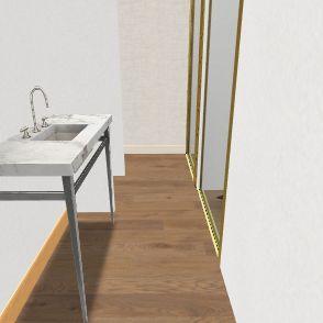 Meeks New-2Baños 4-I con puerta Interior Design Render