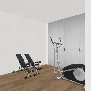 287 Basment Furniture Interior Design Render