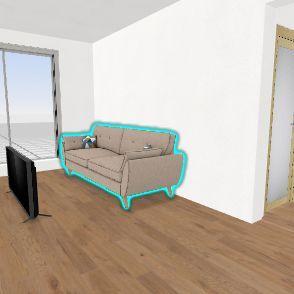 Elderly Couple Home Interior Design Render