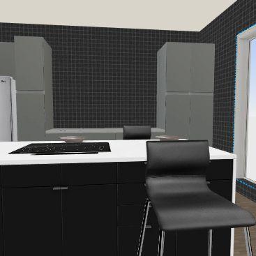 new kitchen/living/bath Interior Design Render