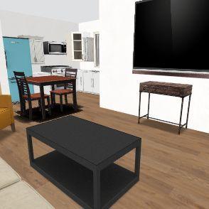 2 Bed 1 Bath Maplewood Revision3 wo furniture Interior Design Render