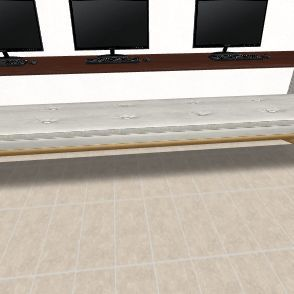 Computer Room Interior Design Render