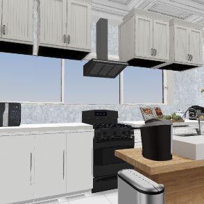 Smart kitchen design Bradley Oh Interior Design Render