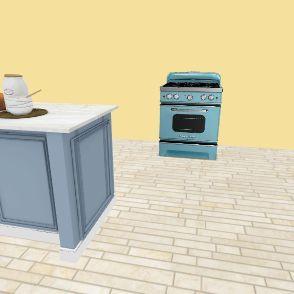 french kitchen Interior Design Render