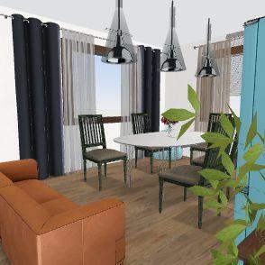 гостиная впереди Interior Design Render