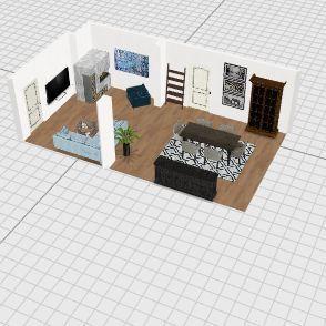 Wohnzimmer Interior Design Render