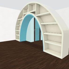 Blue Interior Design Render