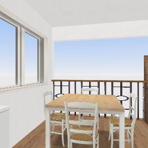 Kitchen and Breakfast Area 1 Interior Design Render