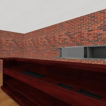 Fire House Interior Design Render