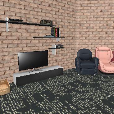 cute house Interior Design Render