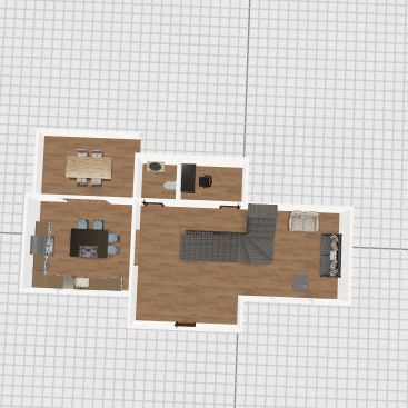 Small not tiny house- 2nd floor Interior Design Render